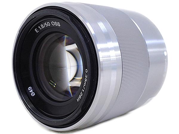 SONY ソニー E 50mm F1.8 OSS SEL50F18 カメラレンズ 単焦点 中望遠 シルバー