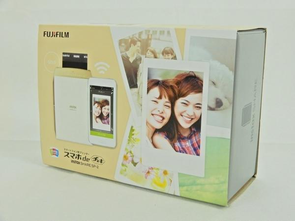 FUJIFILM 富士フィルム スマホdeチェキ instax SHARE SP-2 スマートフォン用 プリンター ゴールド