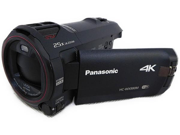 Panasonic パナソニック HC-WX990M-K デジタル 4K ビデオカメラ ブラック