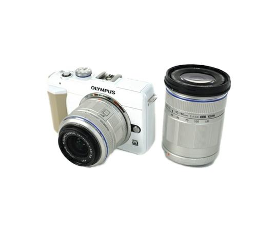 OLYMPUS オリンパス PEN Lite E-PL1s ダブルズームキット カメラ ミラーレス一眼 ホワイト
