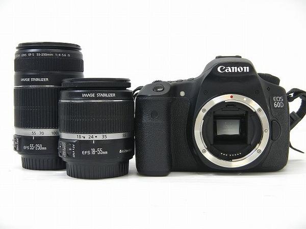 Canon キヤノン EOS 60D ダブルズームキット EOS60D-WKIT カメラ デジタル一眼レフ ブラック