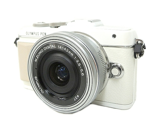 OLYMPUS オリンパス ミラーレス一眼 PEN Lite E-PL7 14-42mm EZレンズキット ホワイト カメラ