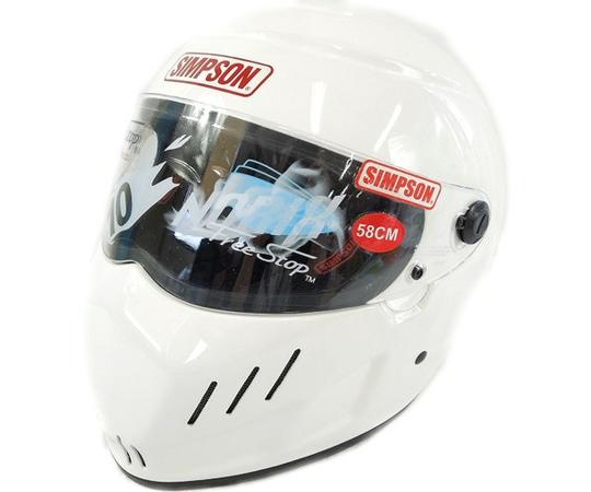 SIMPSON シンプソン RX‐10 ホワイト SPEEDWAY 58cm ヘルメット
