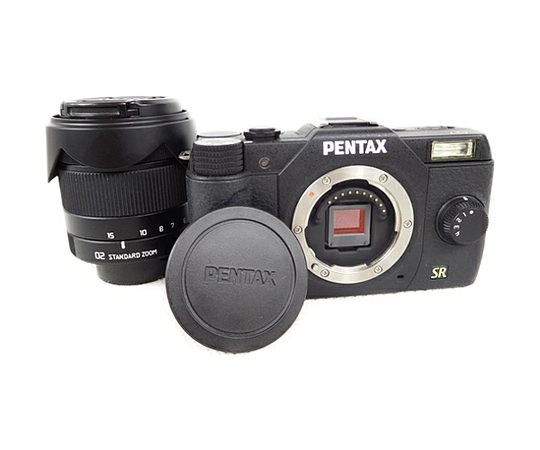 PENTAX Q7 ズームレンズキット PENTAX-02 STANDARD ZOOM ブラック ミラーレス 一眼 カメラ
