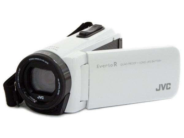 JVC Everio エブリオ ビデオカメラ GZ-R470 ホワイト 防塵 防水