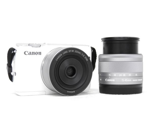 Canon キヤノン EOS M10 ダブルレンズキット ミラーレス 一眼 カメラ EOSM10WH-WLK ホワイト