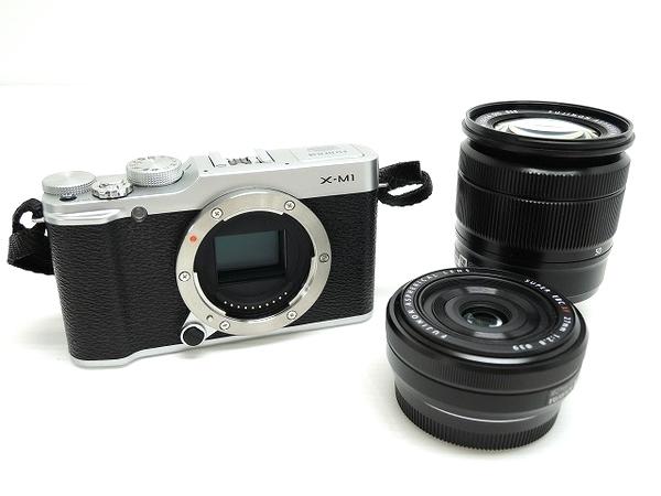 富士フイルム FUJIFILM X-M1 ダブルレンズキット F X-M1S/1650/27KIT カメラ ミラーレス一眼 シルバー
