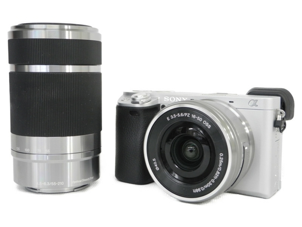 SONY ソニー ミラーレス一眼 α6400 ダブルズームレンズキット シルバー 4K 2420万画素 瞳AF 高速AF カメラ