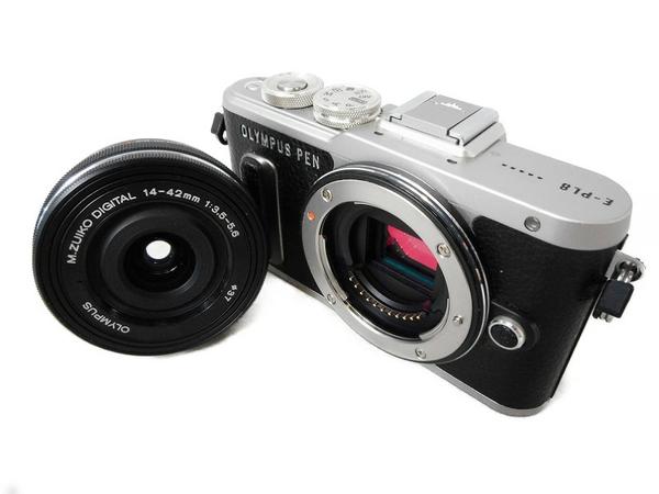 OLYMPUS オリンパス ミラーレス一眼 PEN E-PL8 14-42mm EZレンズキット ブラック デジタル カメラ