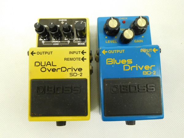 BOSS エフェクター2点セット Blues Driver BD-2 DUAL OverDrive SD-2
