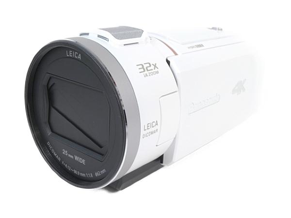 Panasonic パナソニック ビデオカメラ HC-VZX1M 内蔵メモリ64GB 4K Wi-Fi あとから補正 ホワイト