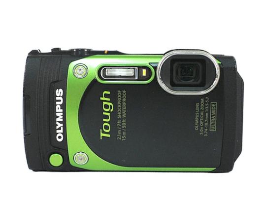 OLYMPUS オリンパス 防水カメラ STYLUS TG-870 Tough グリーン 防水性能15m 180°可動式液晶 デジタルカメラ