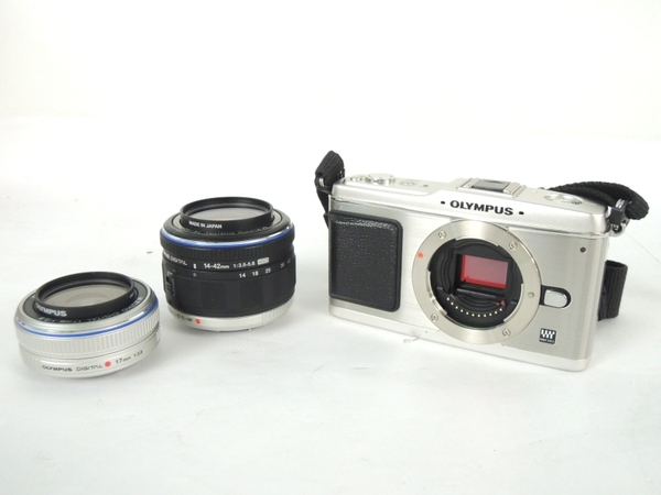 OLYMPUS オリンパス PEN E-P1 ツインレンズキット カメラ ミラーレス一眼 シルバー
