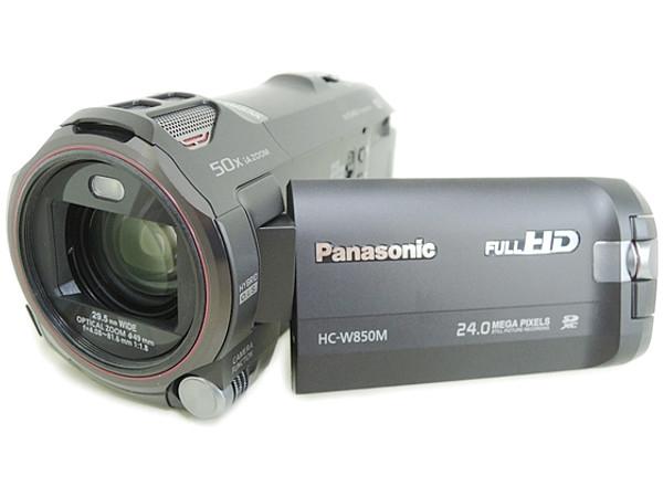 Panasonic パナソニック HC-W850M ワイプ撮り 軽量 デジタルハイビジョン ビデオカメラ ブラック