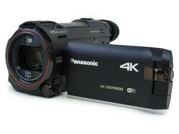 Panasonic  パナソニック 4K ビデオカメラ HC-WXF990M ブラック デジタル カメラ あとから補正 ワイプ撮り