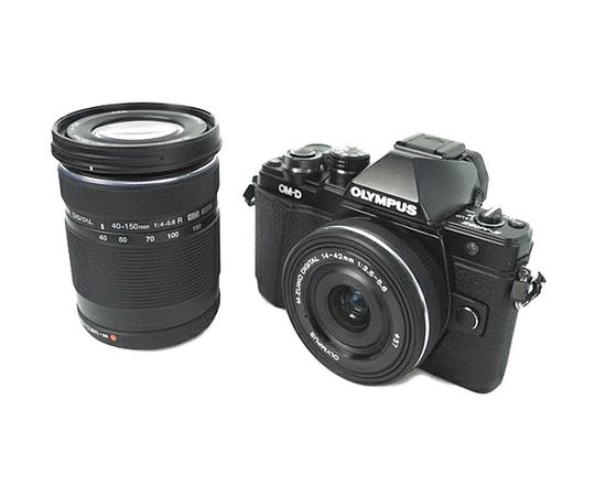 OLYMPUS オリンパス ミラーレス一眼 OM-D E-M10 MarkII EZ ダブルズームキット ブラック カメラ