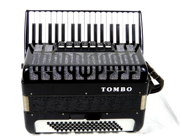 TOMBO トンボ 独奏用 アコーディオン J-80 ブラック 34鍵盤
