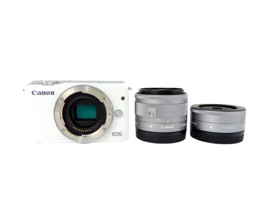Canon キヤノン ミラーレス一眼 EOS M10 ダブルレンズキット ホワイト EOSM10WH-WLK