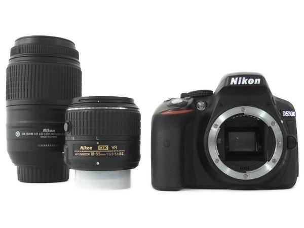 Nikon ニコン 一眼レフ D5300 ダブルズームキット2 ブラック デジタル カメラ