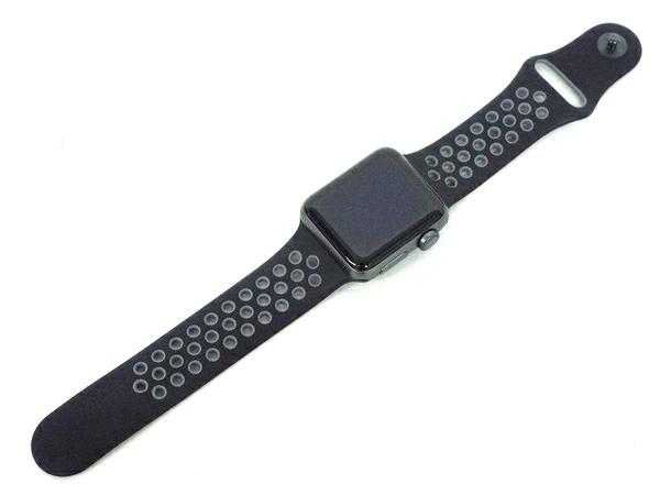 Apple アップル Apple Watch Series 3 Nike+(GPS) 38mm スペースグレイ アルミニウムケース アンスラサイト/ブラック スポーツバンド スマートウォッチ MQKY2J/A