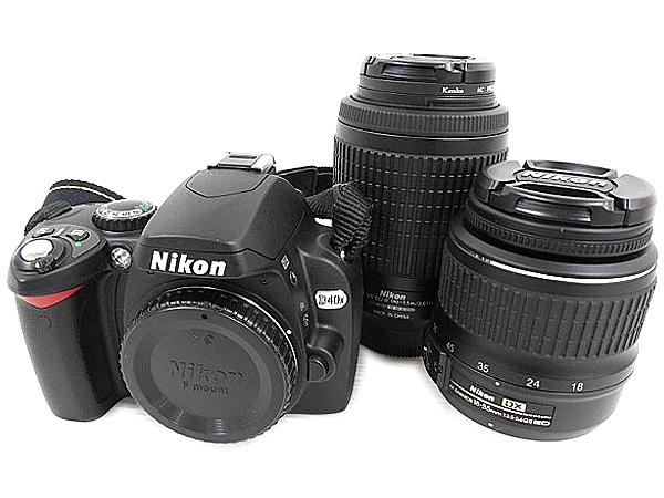 Nikon ニコン D40X D40XWZ ダブルズームキット カメラ デジタル一眼レフ ブラック