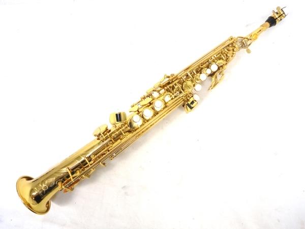 YAMAHA ヤマハ YSS-875EX ソプラノサックス カスタムモデル 管楽器 ゴールドラッカー ケース 付