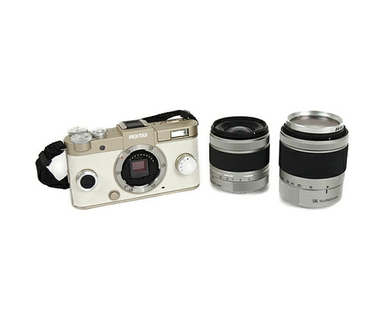 RICOH リコー PENTAX Q-S1 ダブルズームキット ミラーレス 一眼レフ カメラ ピュアホワイト