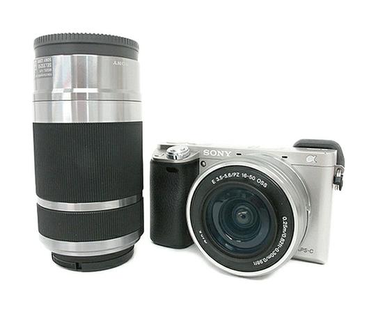 SONY α6000 ミラーレス 一眼 ILCE-6000Y S ダブルズームレンズキット シルバー カメラ