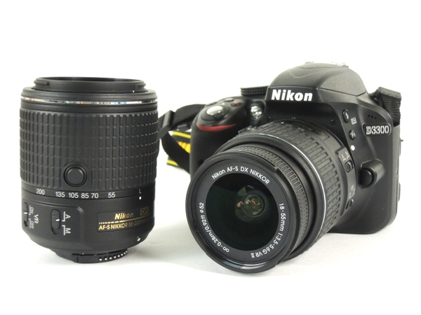 Nikon ニコン 一眼レフカメラ D3300 ダブルズームキット2 ブラック デジタルカメラ 初心者向け