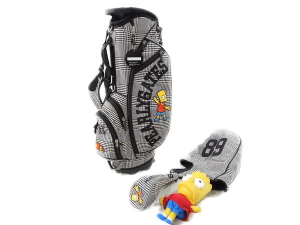 パーリーゲイツ シンプソンズ グレンチェック キャディ バッグ 8.5インチ スタンドバッグ ゴルフ