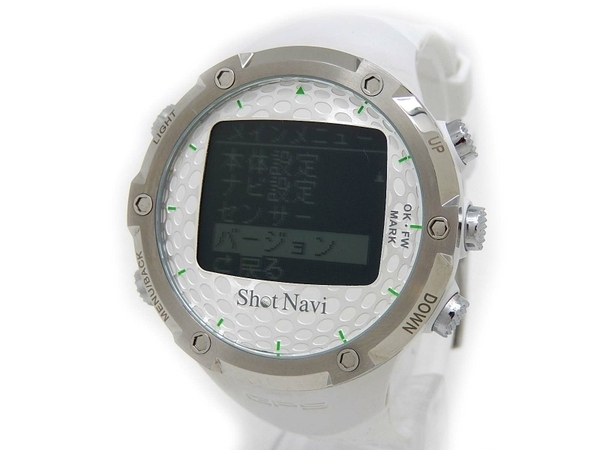 ShotNavi ショットナビ W1-FW SNW1FW-B ゴルフナビ 腕時計型 ホワイト