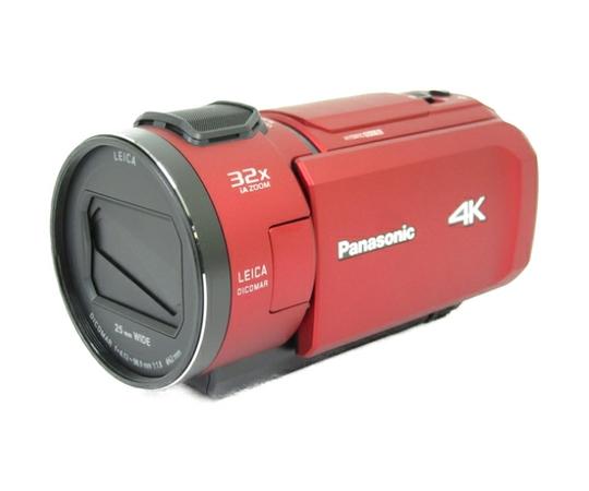 Panasonic パナソニック ビデオカメラ HC-VZX1M 内蔵メモリ64GB 4K Wi-Fi あとから補正 レッド