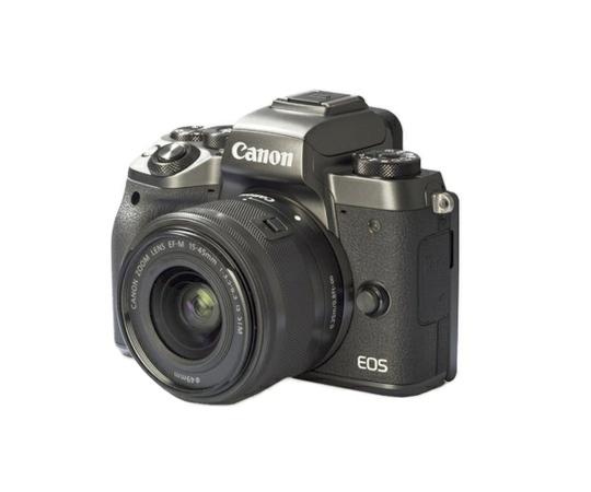 Canon キヤノン ミラーレス一眼 EOS M5 EF-M15-45 IS STM レンズキット デジタル カメラ ブラック EOSM5-1545ISSTMLK