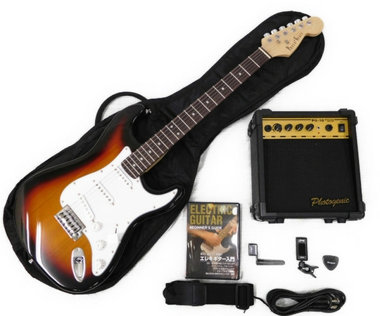 エレキギター アンプ 入門セット 教則DVD付 photogenic ST-180 SB ストラトキャスター サンバースト