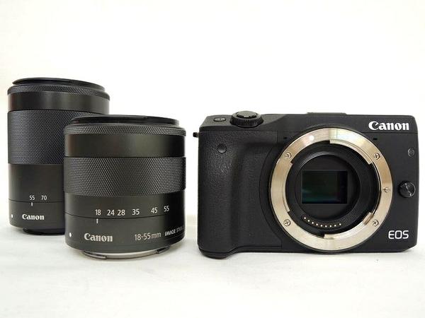 Canon キヤノン EOS M3 BK WZK カメラ 一眼レフ ミラーレス ダブルズームキット ブラック