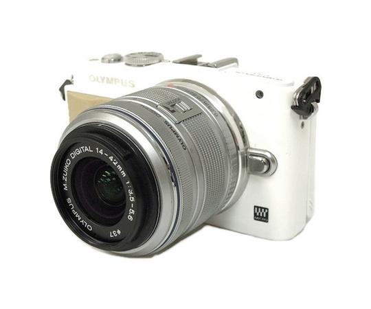 OLYMPUS オリンパス ミラーレス一眼 PEN Lite E-PL5 レンズキット デジタル カメラ ホワイト