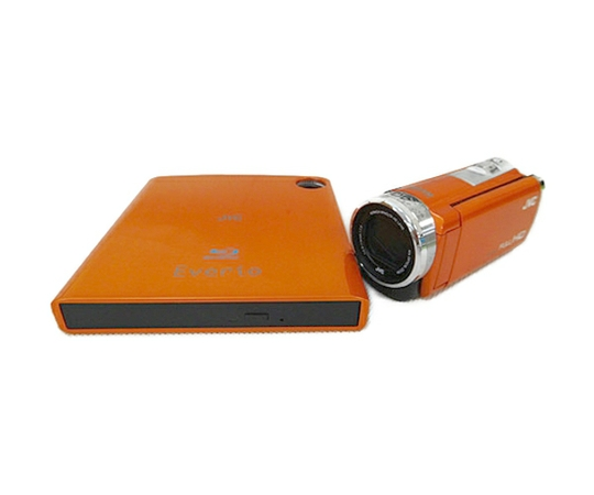JVC ビクター ビデオカメラ Everio GZ-E600 + Blu-ray ライターセット 【予備バッテリー付】