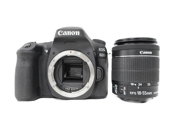 Canon キヤノン 一眼レフ EOS 80D レンズキット EF-S18-55 IS STM カメラ デジタル 2420万画素 EOS80D1855ISSTMLK
