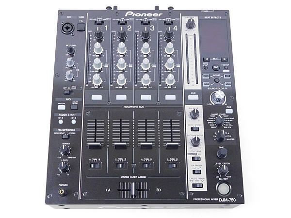 Pioneer パイオニア DJM-750-K DJミキサー ブラック 4ch 4チャンネル