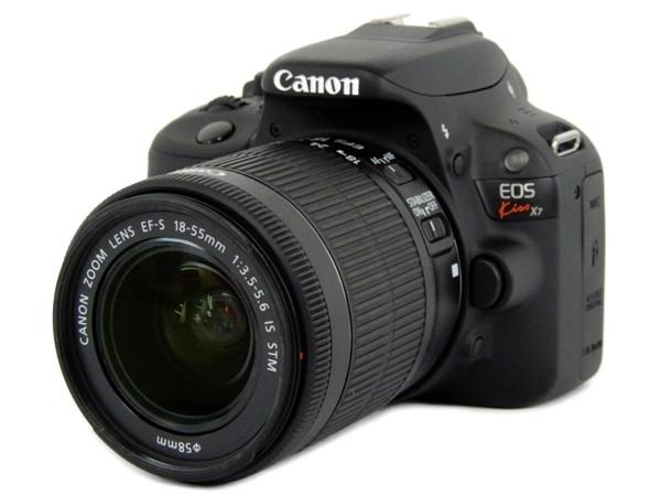 Canon キャノン 一眼 レフ EOS Kiss X7 レンズキット EF-S18-55mm F3.5-5.6 IS STM ブラック カメラ デジタル KISSX7-1855ISSTMLK