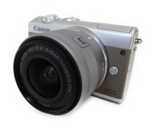Canon キャノン ミラーレス一眼 EOS M100 レンズキット グレー カメラ デジタル EOSM100BK-1545ISSTMLK