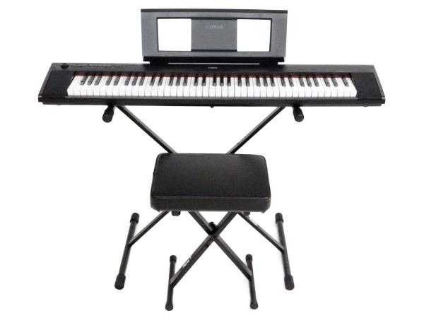 YAMAHA ヤマハ 電子ピアノ 76鍵 スタンド フットペダル 椅子 付 piaggero NP-32 キーボード ブラック 鍵盤 楽器