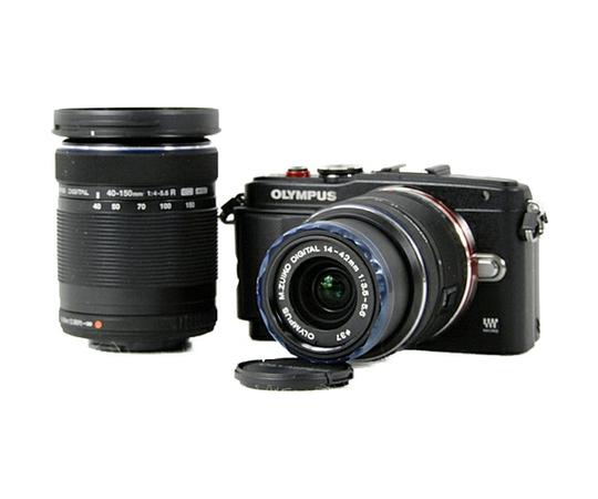 OLYMPUS オリンパス ミラーレス一眼 PEN Lite E-PL6 ダブルズームキット ブラック カメラ