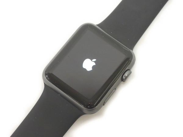 Apple Watch Sport 42mm MJ3T2J/A ブラックスポーツバンド スマートウォッチ