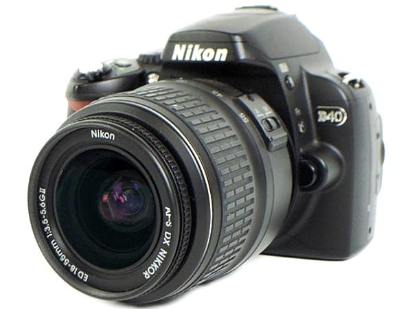 Nikon ニコン D40 レンズキット D40BLK カメラ デジタル一眼レフ ブラック