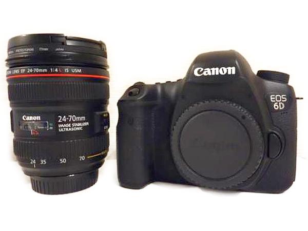 Canon キャノン EOS 6D EF24-70L IS USM レンズキット EOS6D2470ISLK カメラ デジタル一眼レフ ブラック