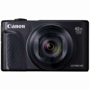 Canon キャノン デジタルカメラ PowerShot SX740 HS ブラック 光学40倍ズーム 4K動画対応 PSSX740HS