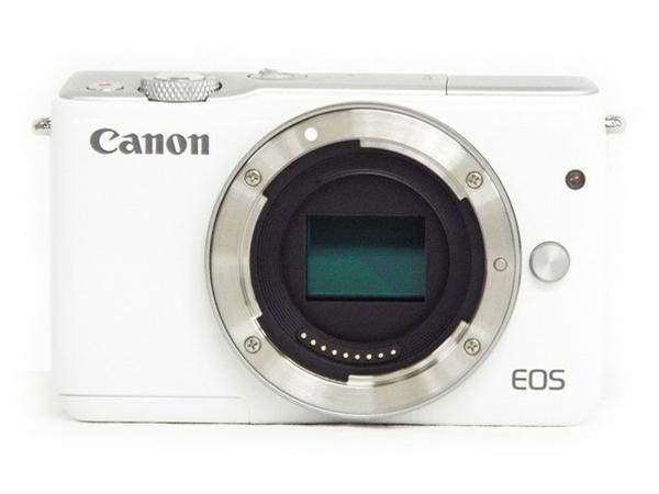 【SDカード付(32GB)】 Canon キヤノン ミラーレス 一眼 EOS M10 レンズキット Wi-Fi ホワイト カメラ EOSM10WH-1545ISSTMLK