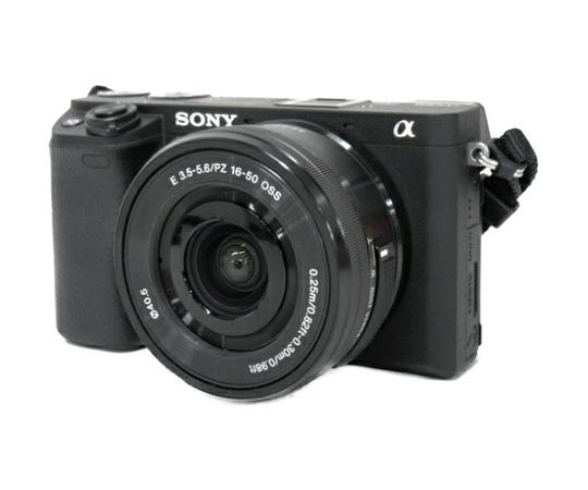 SONY ソニー ミラーレス一眼 α6300 パワーズームレンズキット 4K Wi-Fi ILCE6300L ブラック カメラ