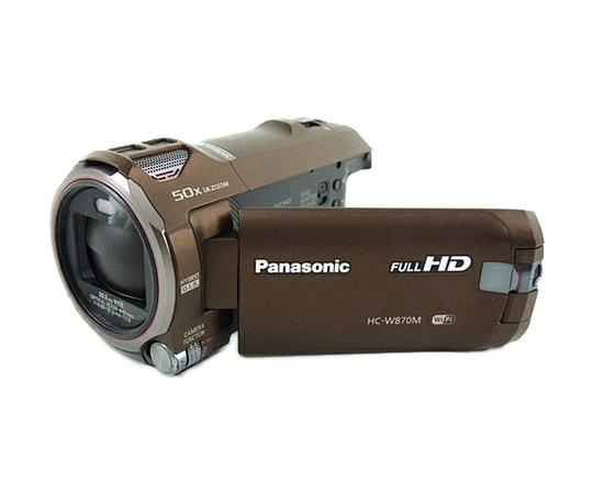 Panasonic パナソニック ビデオカメラ ワイプ撮り HC-W870M ブラウン デジタル ハイビジョン